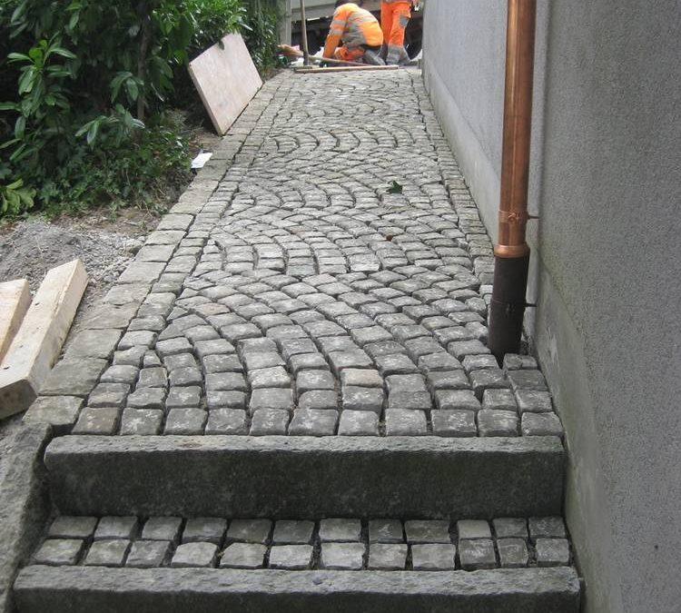 Sanierung Gehweg / Kopfsteinpflaster